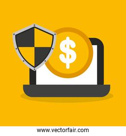 savings security online flat icons