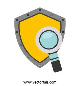 shield security system flat icon
