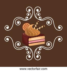 delicious cake baked goods