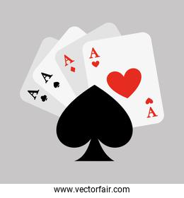 poker cards game casino icon