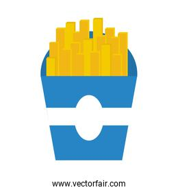 delicious french frieds fast food icon