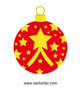 christmas ball decoration isolated icon