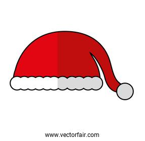 christmas hat decoration isolated icon