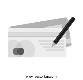 bank check isolated icon