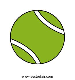 ball tennis sport equipment icon