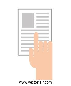 paper document flat line icon