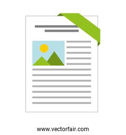 document file format isolated icon