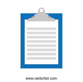 clipboard paper order isolated icon