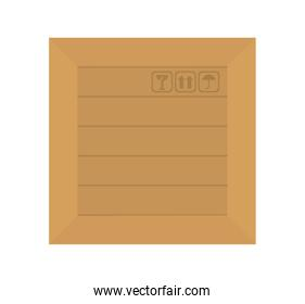 carton box packing isolated icon