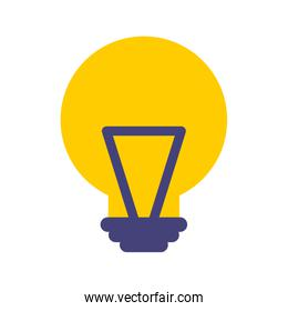 bulb light idea isolated icon