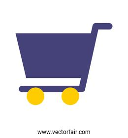 shopping cart isolated icon