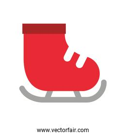 red skate ice isolated icon