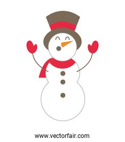 merry christmas snowman character