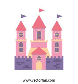 cute castle isolated icon