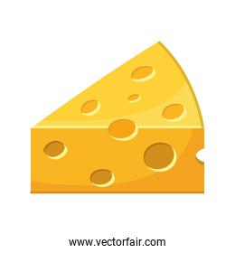 cheese piece isolated icon