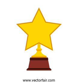 trophy winner award isolated icon