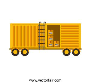 delivery container isolated icon