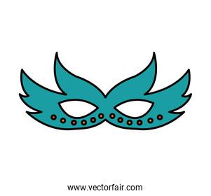 party mask isolated icon