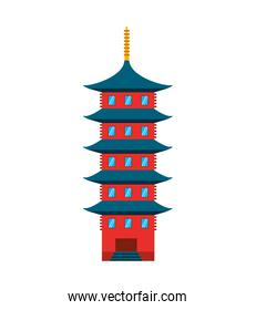 japanese building isolated icon