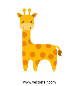 cute giraffe animal icon