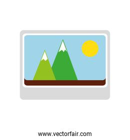 photography picture isolated icon
