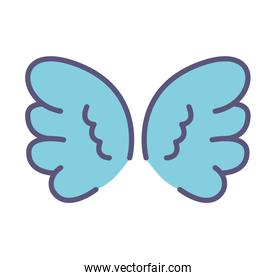 cute wings isolated icon