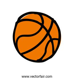 basketball balloon isolated icon