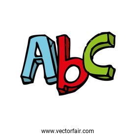 alphabet letters isolated icon