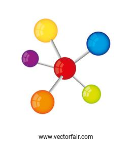 molecule structure isolated icon