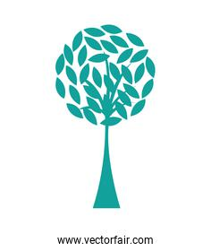 tree plant silhouette isolated icon