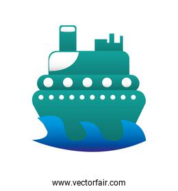 boat surfing isolated icon