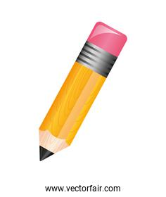 pencil sharpened icon isolated