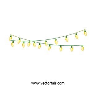 christmas lights decoration isolated icon