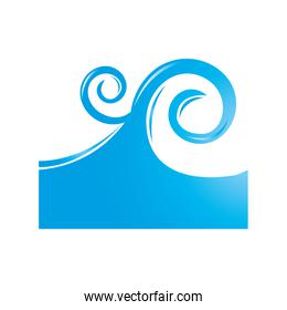 sea wave isolated icon