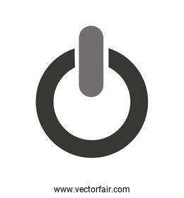 power button symbol isolated icon