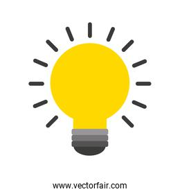 bulb light flat icon