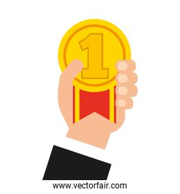 medal award isolated icon