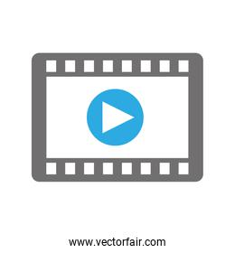 video player isolated icon
