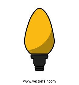 electric bulb isolated icon