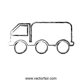 truck oil transport isolated icon