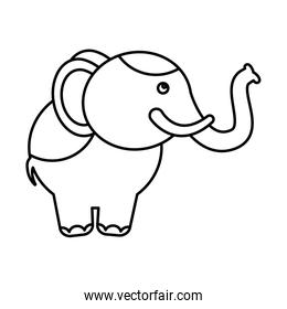 circus elephant isolated icon