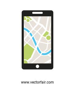 smartphone technology with gps app icon