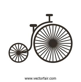 bicycle drawing isolated icon