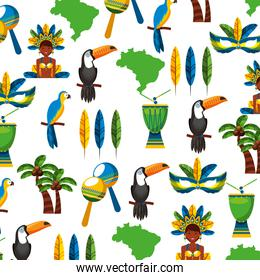 pattern tropical set icons