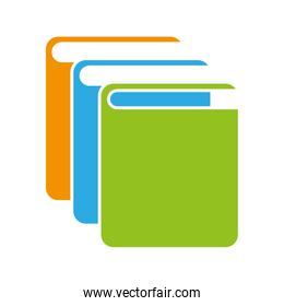 text book library isolated icon