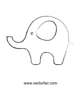 cute elephant baby icon