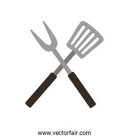 Roasting utensil cutlery icon