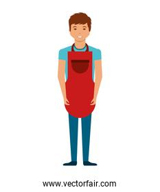 man with apron character