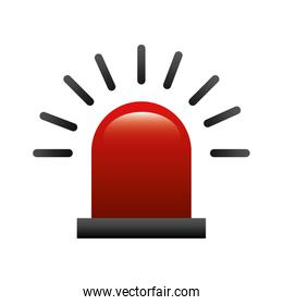 alarm siren isolated icon