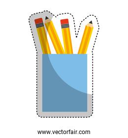 pencil holders isolated icon